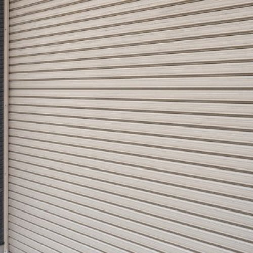 A roller shutter that was recently repaired